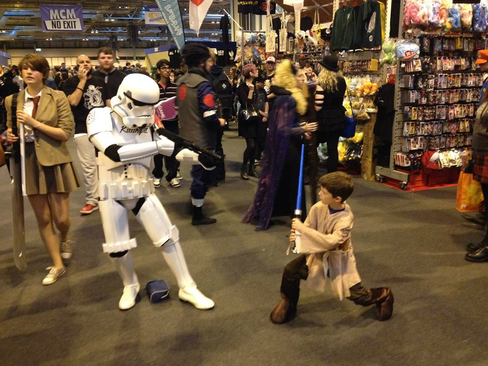 Storm Trooper and mini Jedi