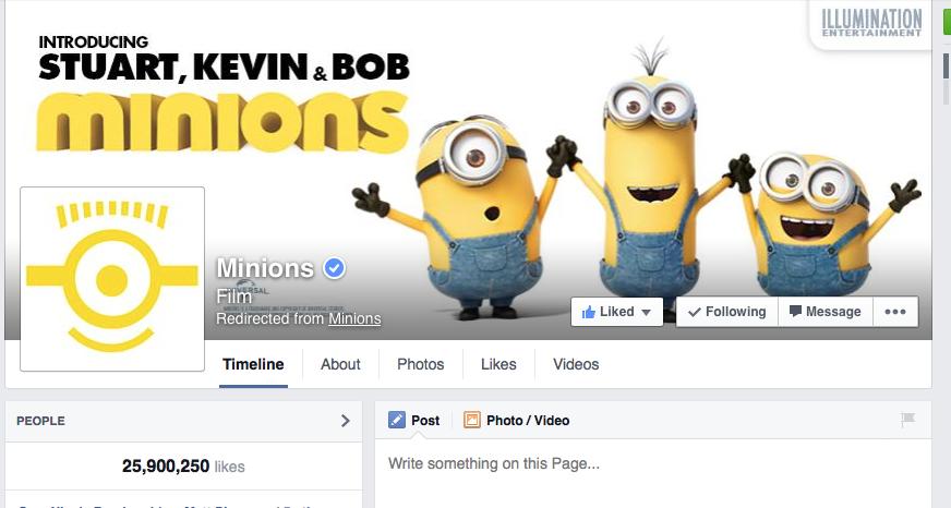 UK Minions Facebook