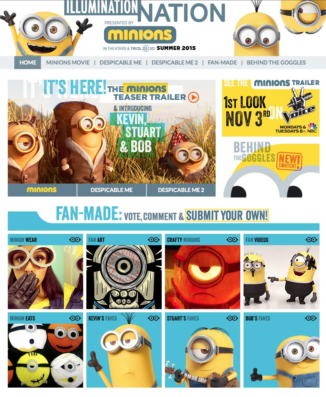 Minions website