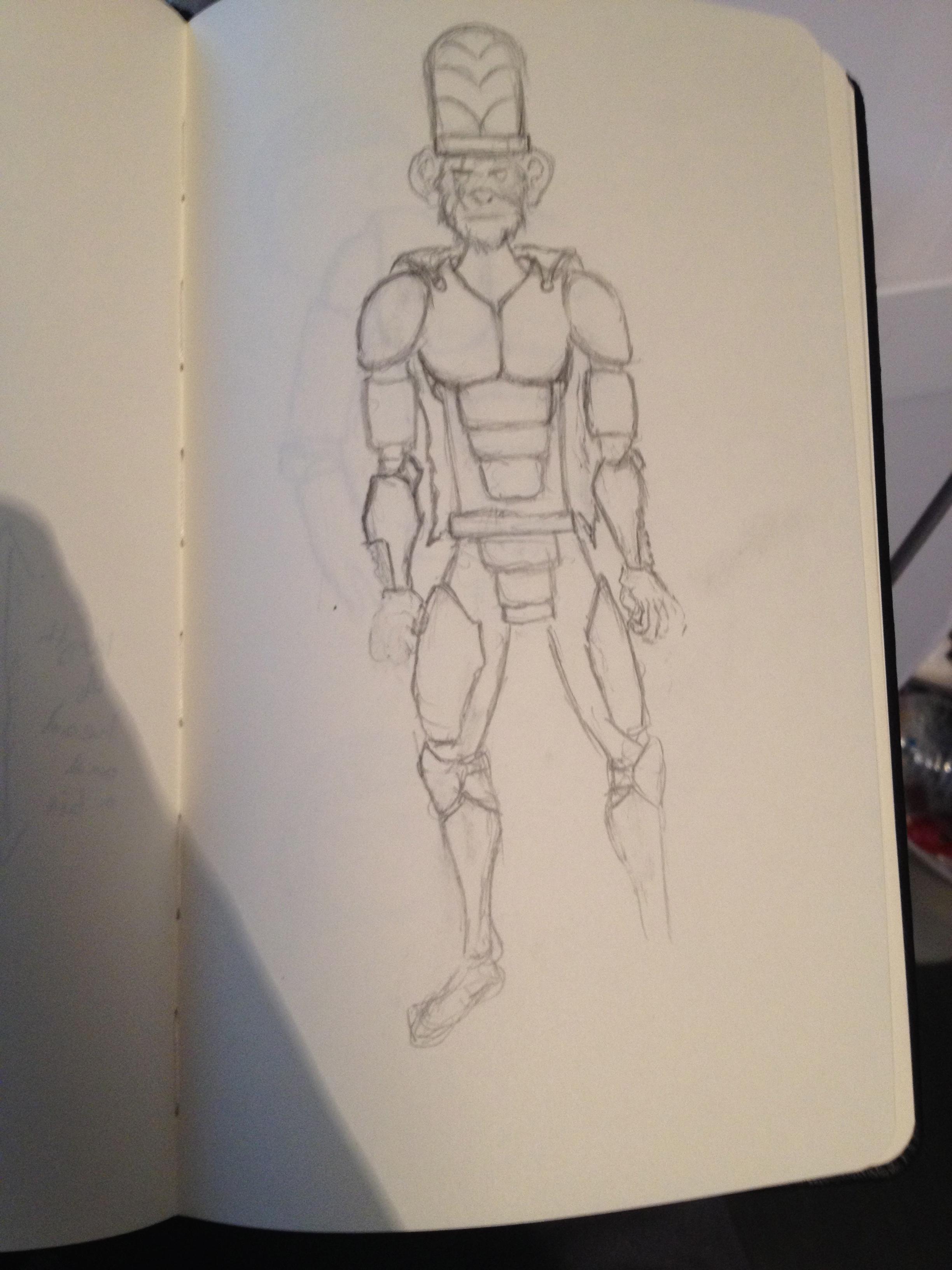 final mojo jojo cosplay sketch