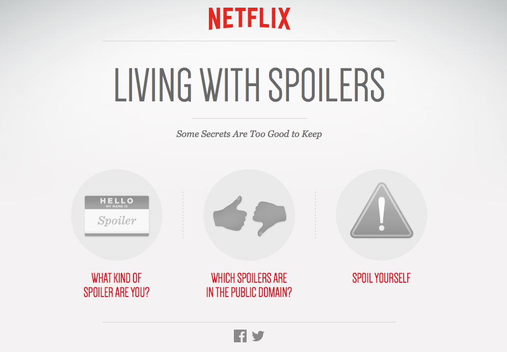 Living with spoilers