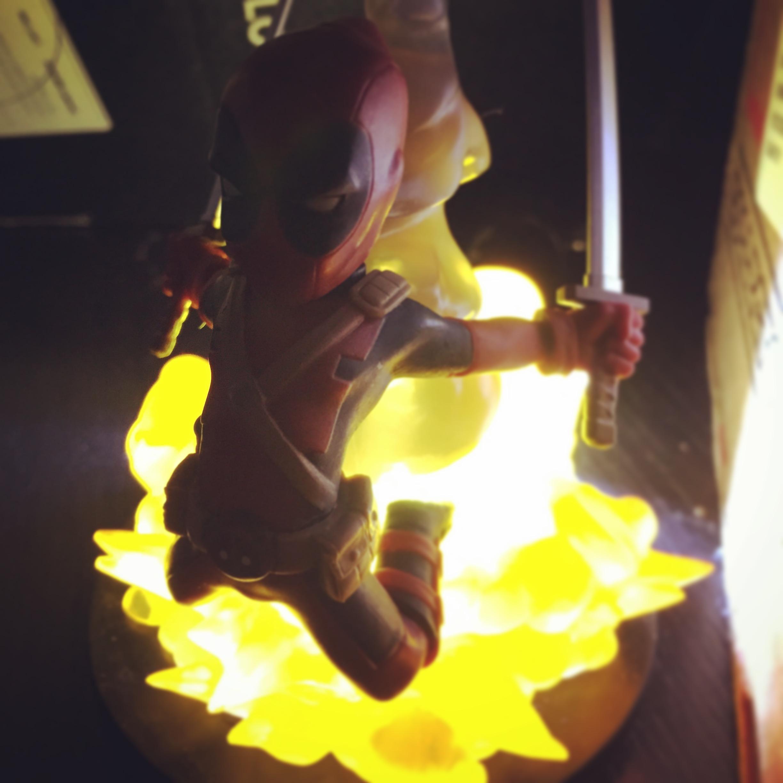 Deadpool figure light