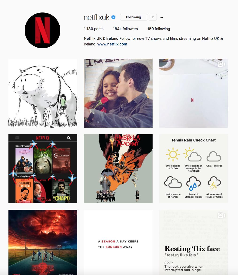 Netlix Instagram